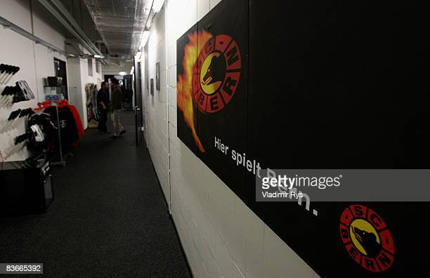 An aisle is seen during the IIHF Champions Hockey League game between SC Bern and HV71 Jonkoping at the PostFinance-Arena on November 12, 2008 in...