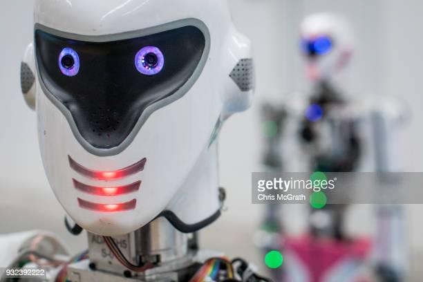 An Akin Robotics 'ADA GH5' robot is seen at the Akin Robotics factory on March 15 2018 in Konya Turkey Akin Robotics is Turkey's first humanoid...