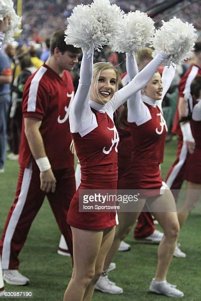 Alabama Crimson Tide Cheerleaders Stock Photos and