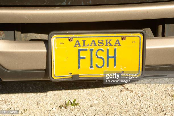 An Alaska registered license plate has FISH in the plate