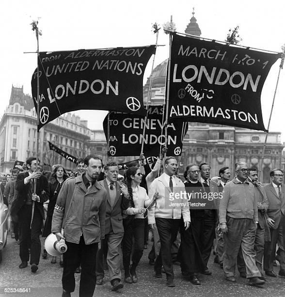 An Aldermaston March against nuclear weaponry United Kingdom 1961