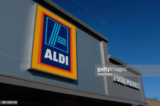 An Aldi discount grocery store stands on December 28 2017 in Edgewood Maryland Aldi which has approximtely 1700 stores across the USA will receive...