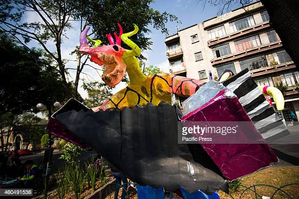An Alebrijes parade attended by many Mexicans the Alebrijes will be displayed until December 30 2014 at Alvaro Obregon