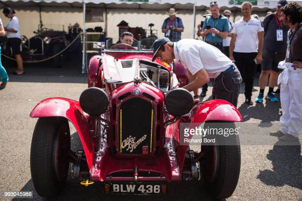 An Alfa Romeo 8C 2300 Monza 1932 is seen during Le Mans Classic 2018 on July 6 2018 in Le Mans France