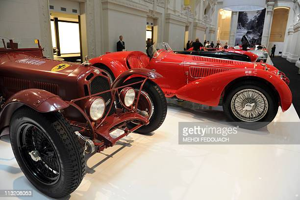 An Alfa Romeo 8C 2300 Monza of 1931 is shown on April 27 2011 at the Musee des Arts Decoratifs museum in Paris during the 'L'art de l'Automobile'...