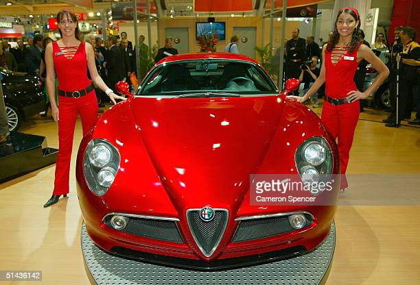 An Alfa Romeo 8C Competizione is on display during the Australian International Motorshow at the Darling Harbour Convention Centre October 7 2004 in...