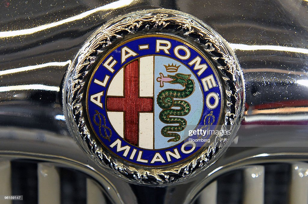 An Alfa Romeo Logo Is Seen On An Alfa Romeo 6c Gs Spider Automobile News Photo Getty Images