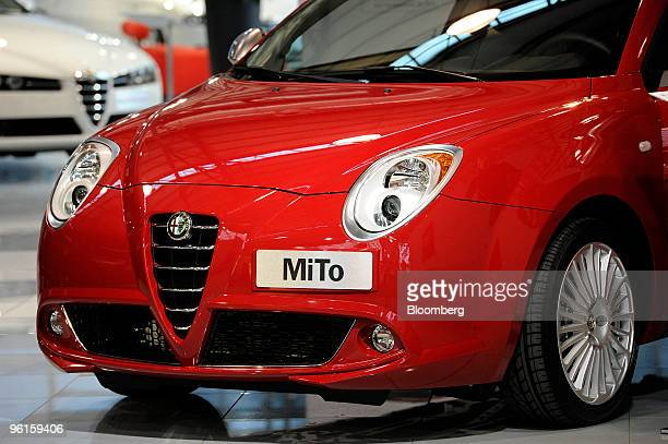 An Alfa Romeo Mito automobile is seen inside the Mirafiori Motor Village in Turin Italy on Friday Jan 22 2010 Fiat SpA the Italian carmaker that...