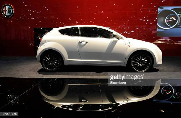An Alfa Romeo Mito automobile is seen on the first press day of the Geneva International Motor Show in Geneva Switzerland on Tuesday March 2 2010 The...