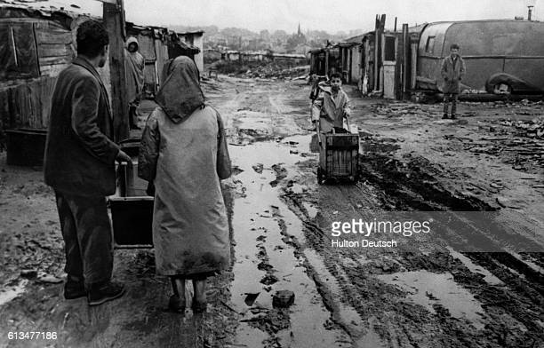 An Algerian shantytown near Nanterre on the outskirts of Paris The population of Algerians in Paris has exploded and there are over 150 many living...