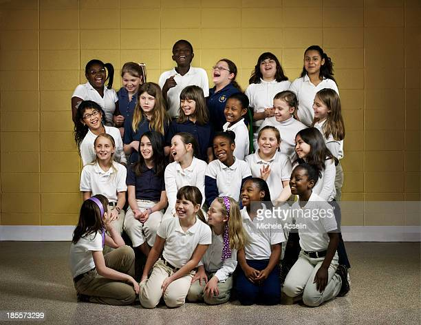 An all girl class of fourthgraders at Foley Intermediate School are photographed for New York Times Magazine on February 14 2008 in Foley Alabama...