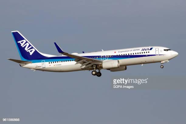 An All Nippon Airways Boeing 737800 landing at Tokyo Haneda airport