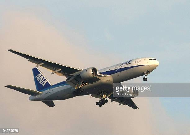An All Nippon Airways Co passenger jet takes off from Haneda Airport in Tokyo Japan on Saturday Sept 8 2007 All Nippon Airways Co is Japan's largest...