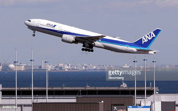 An All Nippon Airways passenger jet takes off from Haneda Airport in Tokyo Saturday February 4 2006 Japan Airlines Corp's thirdquarter loss tripled...