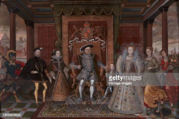 An Allegory of the Tudor Succession: The Family of Henry VIII;Allegory of the Tudor Succession , ca. 1590. After Lucas de Heere Artist Unknown. .