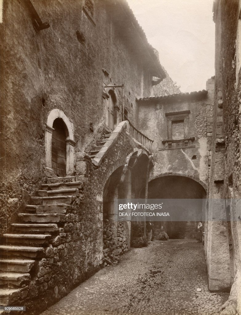 An Alley And Steps Leading To A House Near The Castle, Campo Di Giove,