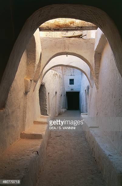 An alley in the old town in Ghadhames Tripoli Libya