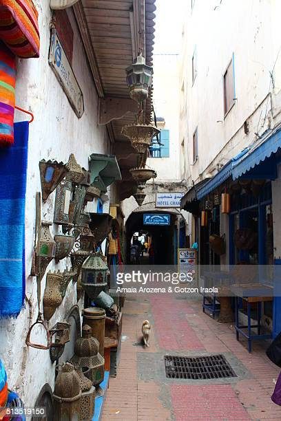 An alley in the souks of Essaouira