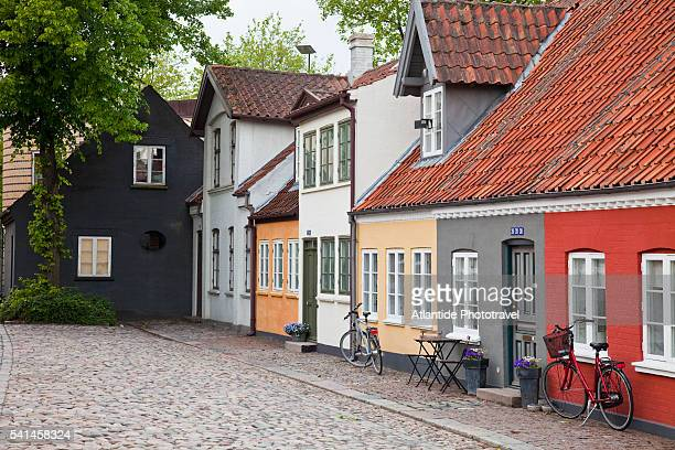 an alley in the town - funen stock pictures, royalty-free photos & images