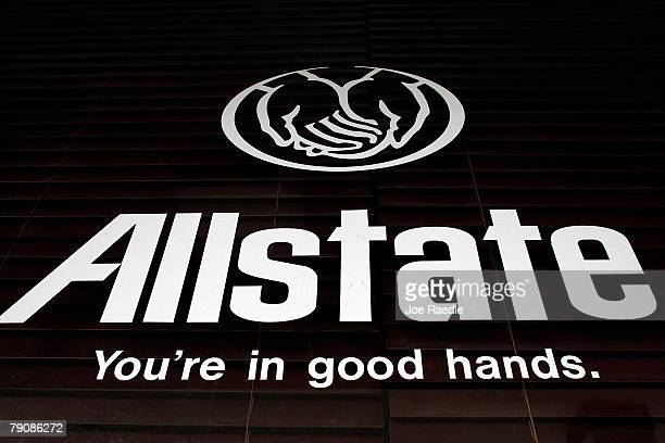 An Allstate insurance company sign is seen outside one of its stores January 17 2008 in Miami Florida Florida regulators are suspending Allstate's...