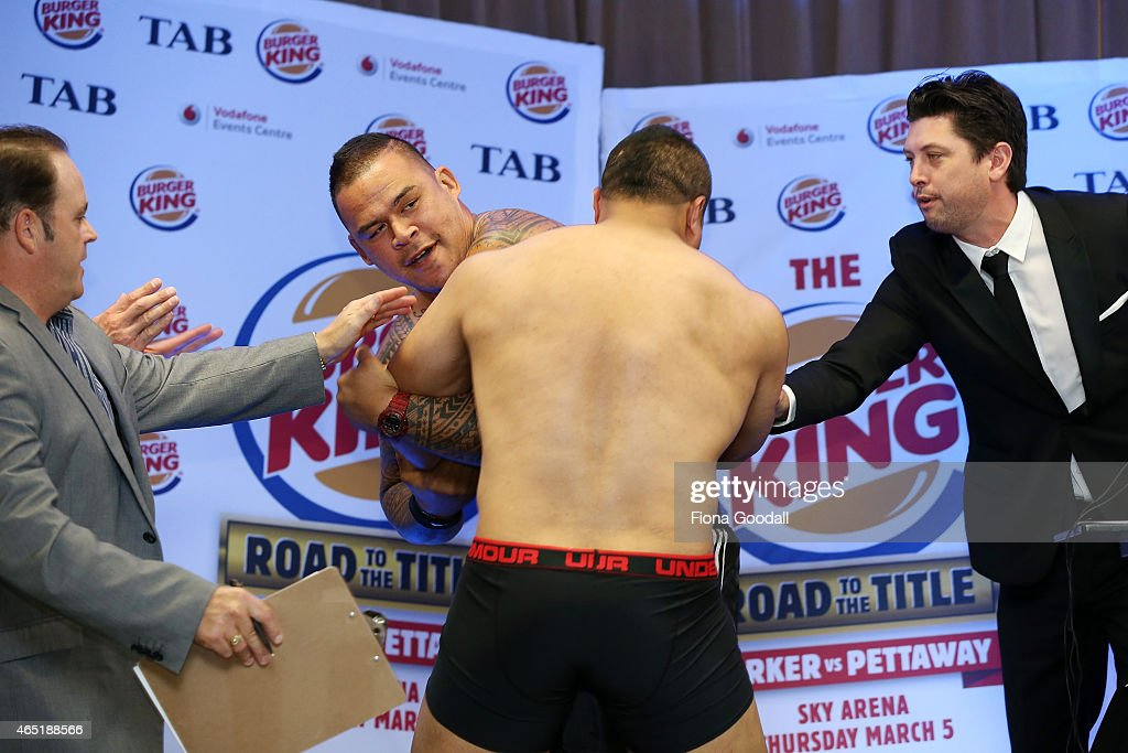 Burger King Road To The Title Weigh In : News Photo