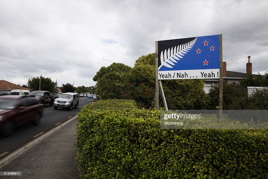 Images Of Existing and Proposed New Zealand Flag Ahead Of Second Flag Referendum : News Photo