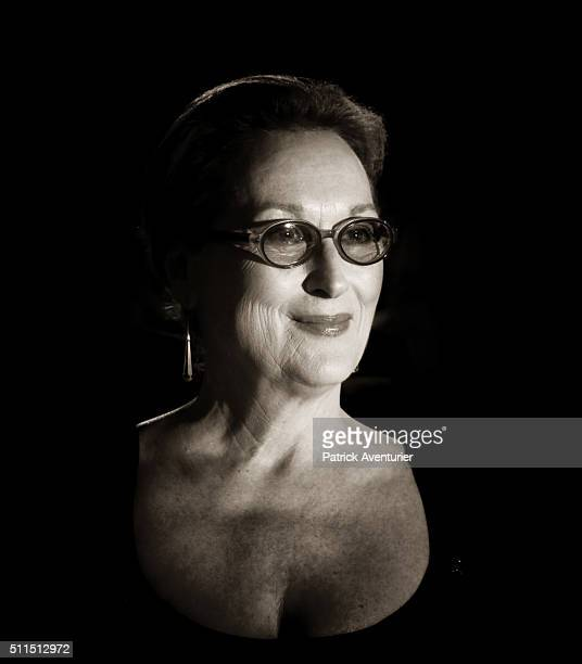 An alternative portrait of actress Meryl Streep during the 66th Berlinale International Film Festival on February 20 2016 in Berlin Germany