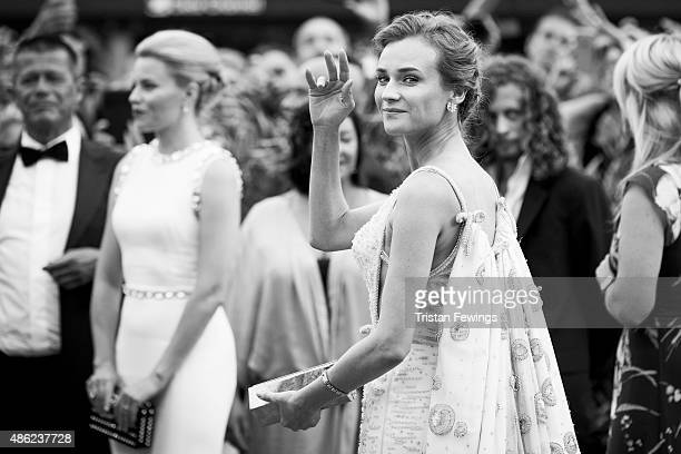 An alternative view as Diane Kruger attends the opening ceremony and premiere of 'Everest' during the 72nd Venice Film Festival on September 2 2015...