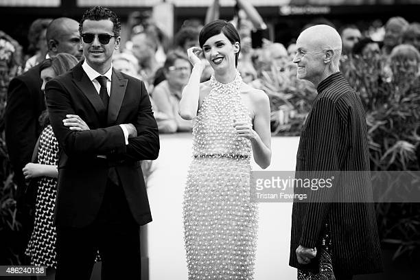 An alternative view as Pawel Pawlikowski, Paz Vega and Jonathan Demme attend the opening ceremony and premiere of 'Everest' during the 72nd Venice...