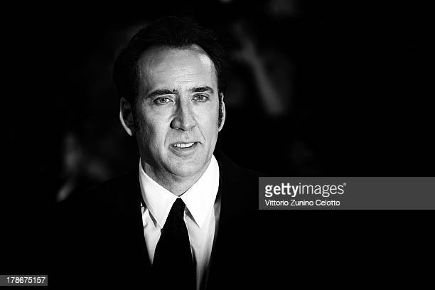 An alternative view of actor Nicolas Cage who attends the 'Joe' Premiere during the 70th Venice International Film Festival on August 30 2013 in...