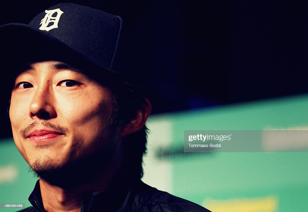 An Alternative View of actor Steven Yeun at The Entertainment Weekly Comic-Con party at Float at Hard Rock Hotel San Diego on July 11, 2015 in San Diego, California.