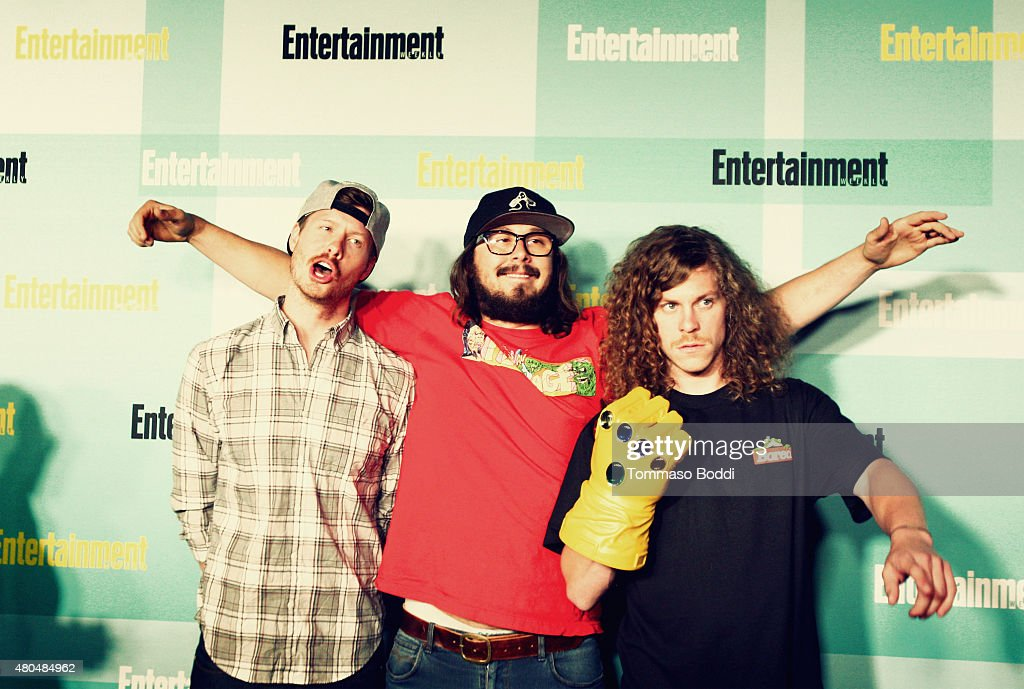 An Alternative View of actors (L-R) Anders Holm, Kyle Newacheck and Blake Anderson at The Entertainment Weekly Comic-Con party at Float at Hard Rock Hotel San Diego on July 11, 2015 in San Diego, California.