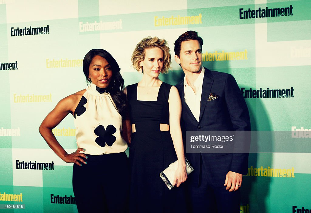 An Alternative View of actors (L-R) Angela Bassett, Sarah Paulson and Matt Bomer at The Entertainment Weekly Comic-Con party at Float at Hard Rock Hotel San Diego on July 11, 2015 in San Diego, California.