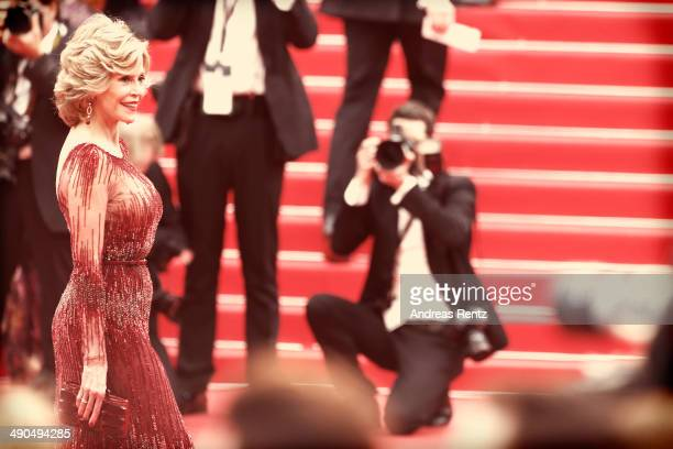 An alternative view of actress Jane Fonda at the Opening ceremony and the 'Grace of Monaco' Premiere during the 67th Annual Cannes Film Festival on...