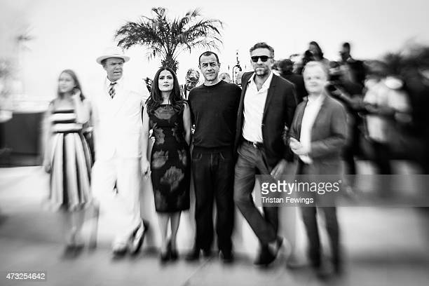An alternative view of Bebe Cave John C Reilly Salma Hayek Matteo Garrone Vincent Cassel and Toby Jones at the 'Il Racconto Dei Racconti' Photocall...