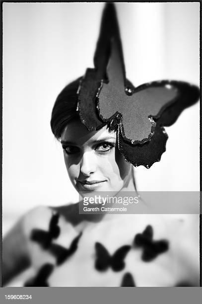 An alternative view of 'Germanys Next Topmodel' candidate Marie Nasemann seen backstage ahead of the Agne Kuzmickaite Igrida Zabere Kaetlin Kaljuvee...