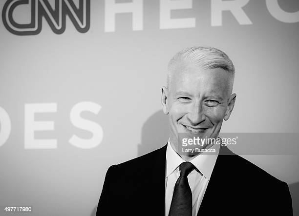 An alternative view of Host Anderson Cooper attends the 2015 CNN Heroes An AllStar Tribute at American Museum of Natural History on November 17 2015...