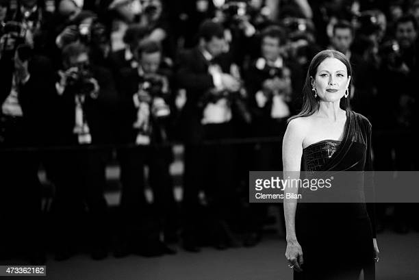 An alternative view of Julianne Moore attending the premiere of 'Mad Max Fury Road' during the 68th annual Cannes Film Festival on May 14 2015 in...