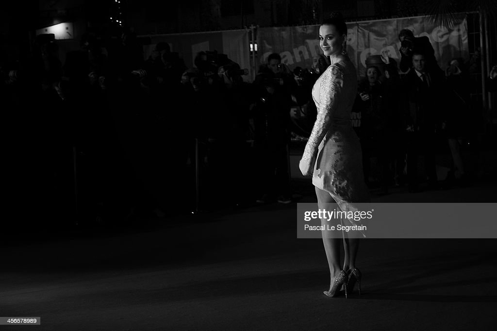 An alternative view of Katy Perry attending the 15th NRJ Music Awards at Palais des Festivals on December 14, 2013 in Cannes, France.
