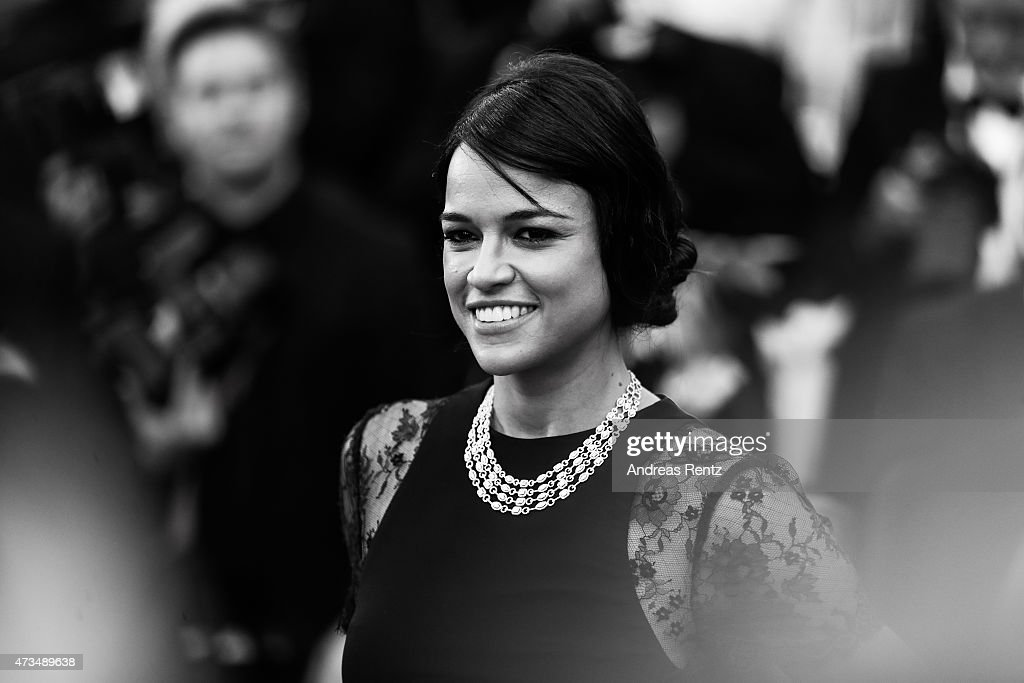 An alternative view of Michelle Rodriguez attending the Premiere of 'Irrational Man' during the 68th annual Cannes Film Festival on May 15, 2015 in Cannes, France.