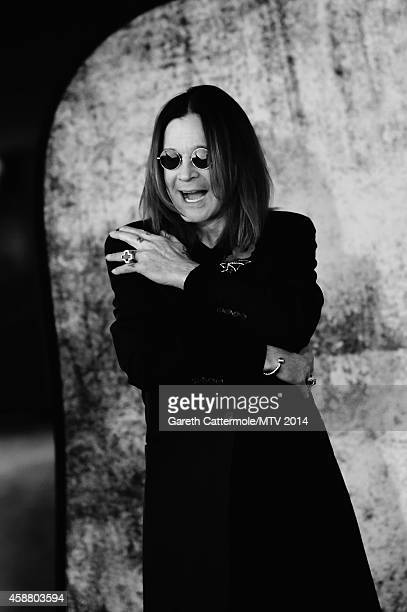 An alternative view of Ozzy Osbourne during the MTV EMA's at The Hydro on November 9 2014 in Glasgow Scotland