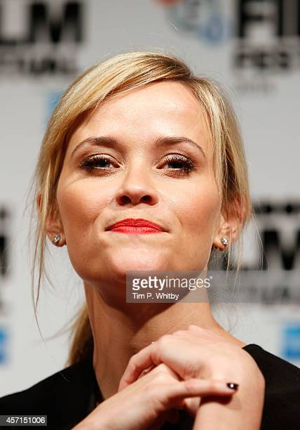 An alternative view of Reece Witherspoon during the press conference for 'Wild' at the Mayfair Hotel as part of The 58th London Film Festival on...