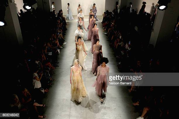 An Alternative View of the Leanne Marshall fashion show during New York Fashion Week September 2016 at The Gallery Skylight at Clarkson Sq on...