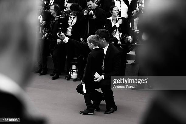 """An alternative view of the red carpet at the Premiere of """"Irrational Man"""" during the 68th annual Cannes Film Festival on May 15, 2015 in Cannes,..."""