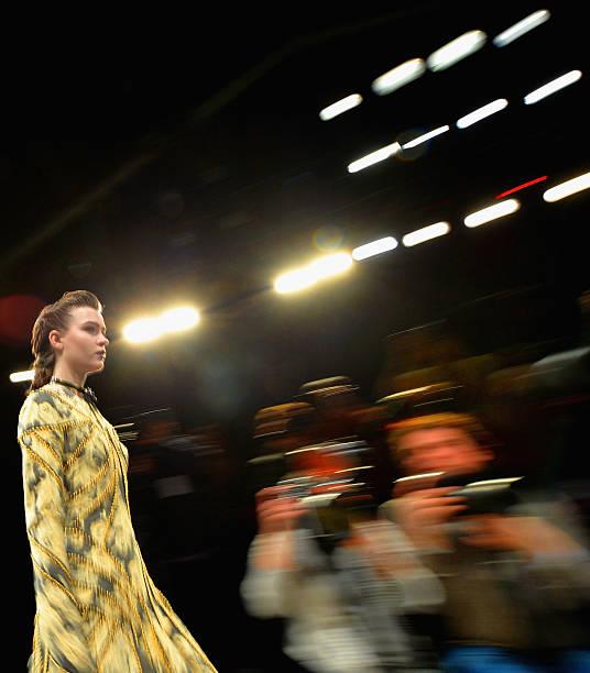 Runway model in Zimmerman Fashion Show