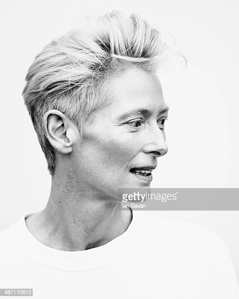 An alternative view of Tilda Swinton during the 72nd Venice Film Festival on September 6 2015 in Venice Italy