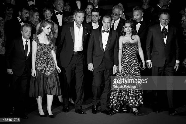 An alternative view of Toby Jones Bebe Cave Vincent Cassel Mateo Garrone Salma Hayek and John C Reilly as they attend the Premiere of 'Il Racconto...