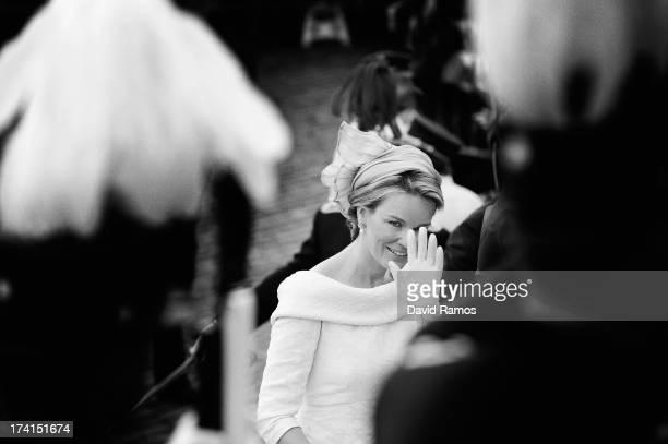 An alternative view on Princess Mathilde of Belgium ahead of the abdication of King Albert II of Belgium & inauguration of King Philippe on July 21,...