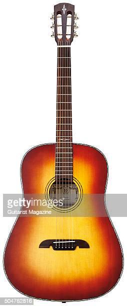 An Alvarez ARDA 1965 slope-shouldered dreadnought acoustic guitar, taken on May 20, 2015.