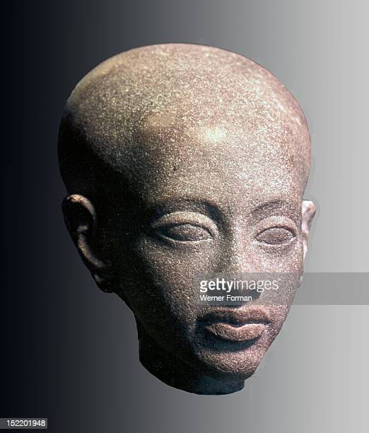 An Amarna head It is thought to represent a princess daughter of Akhenaten and Nefertiti Egypt Ancient Egyptian Amarna period c 1350 BC